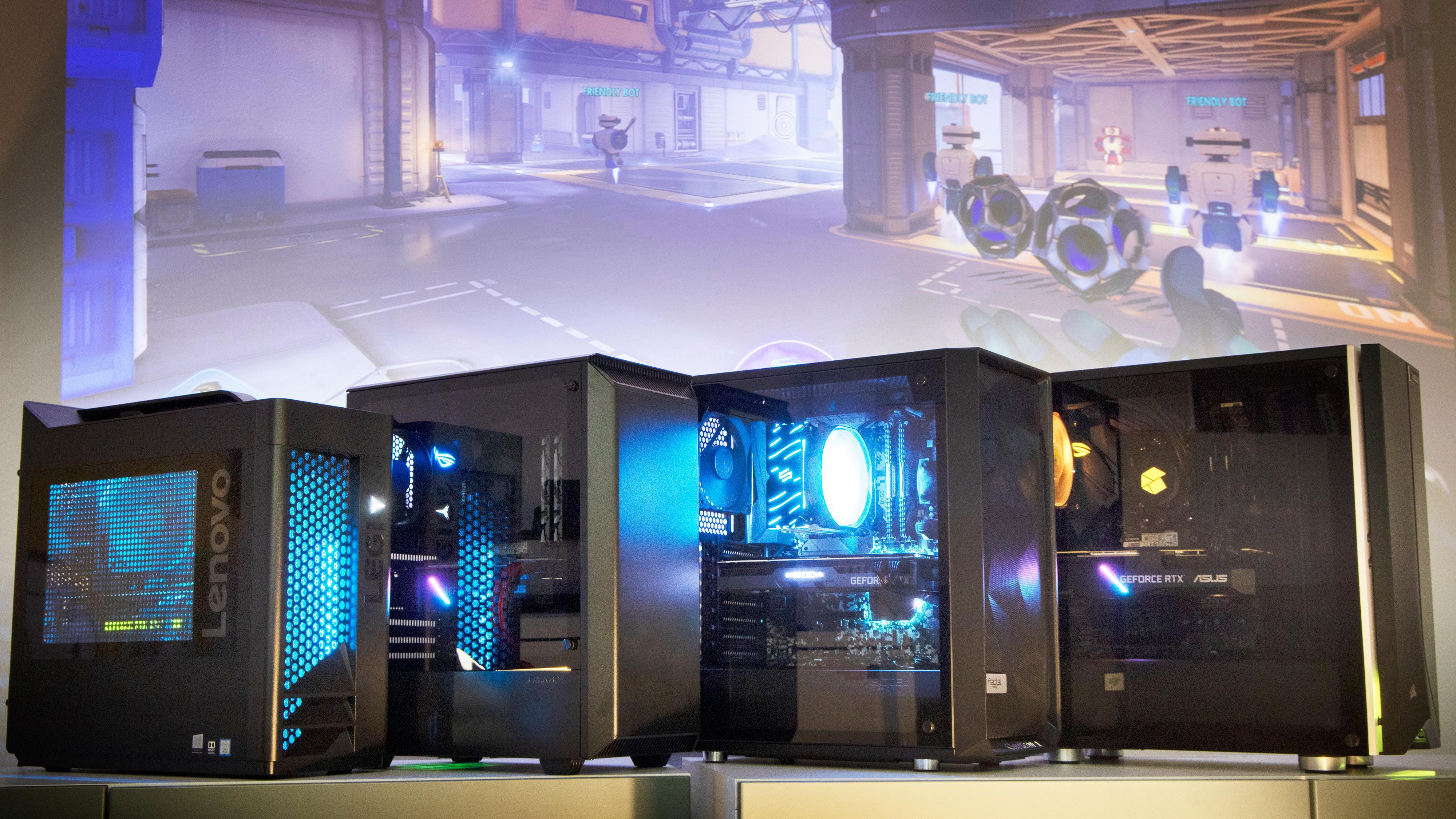 Disse fire maskinene kjemper om å bli kåret til beste spill-PC.