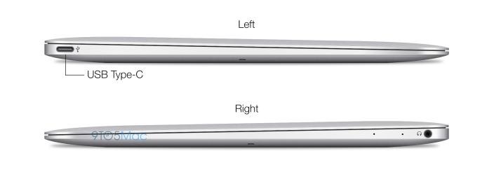 Dropper den «vanlige» USB-A standarden til fordel for den nye, mindre USB-C. (Illustrasjon: Michael Steeber/9to5mac.com)