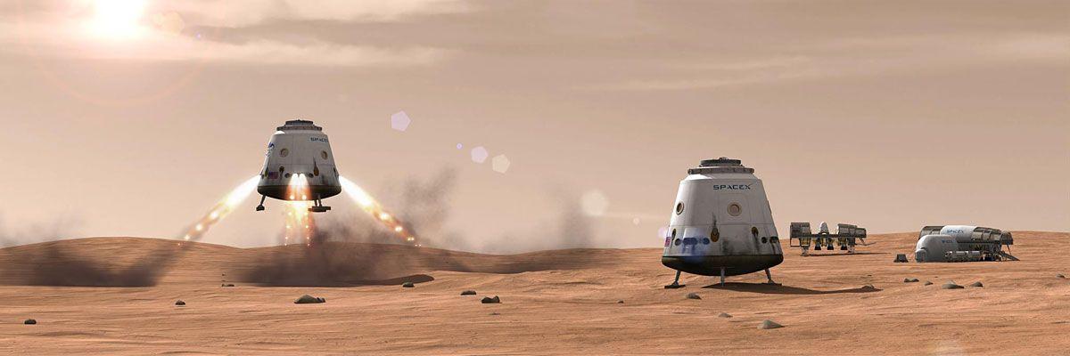 Målet er en koloni på Mars, som vil huse cirka 80 000 mennesker.Foto: SpaceX
