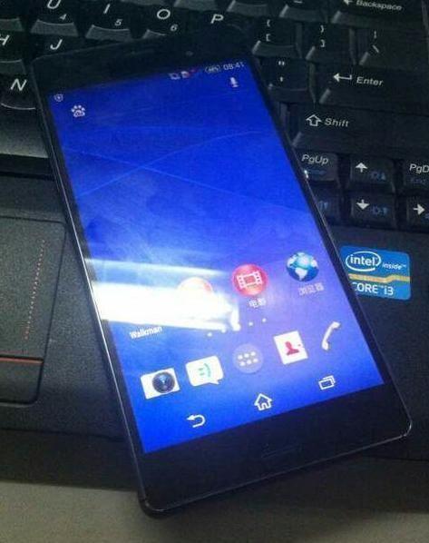 Sony Xperia Z3 forside, lekket bilde.Foto: weibo.com