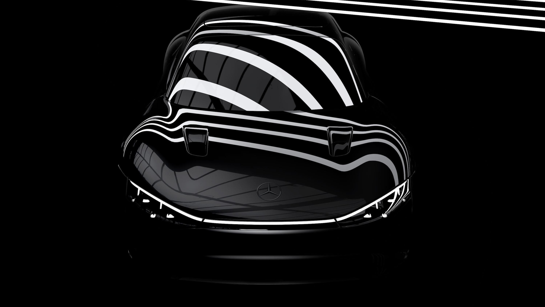 Dette er foreløpig alt vi får se av Mercedes-Benz' kommende Vision EQXX, som skal bli den mest effektive elbilen i verden.