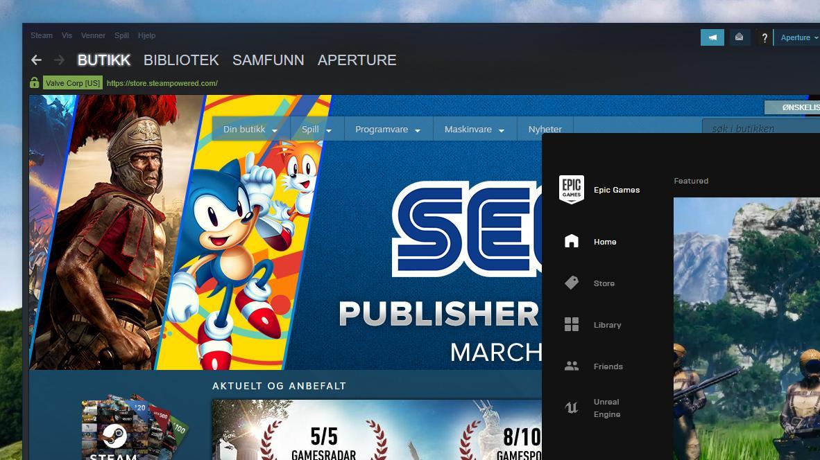 Epic skal ha spionert på Steam-filer lagret på PC-en din