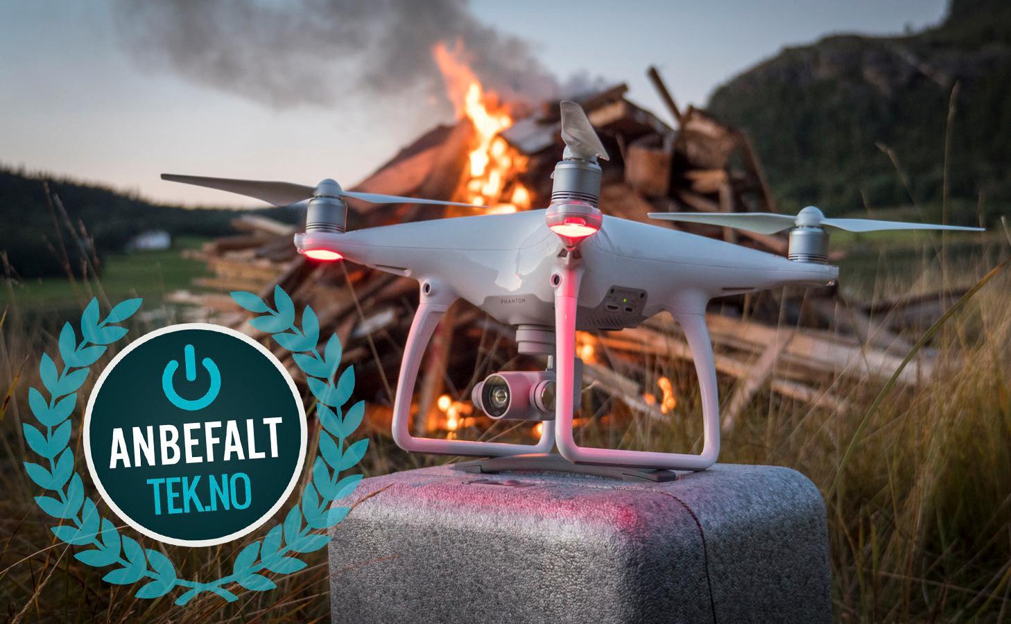 DJI Phantom 4 er langt mer avansert enn «folk flest» trenger, men er du på jakt etter en drone for å lage skikkelig gode videoer, finnes det knapt noen bedre.