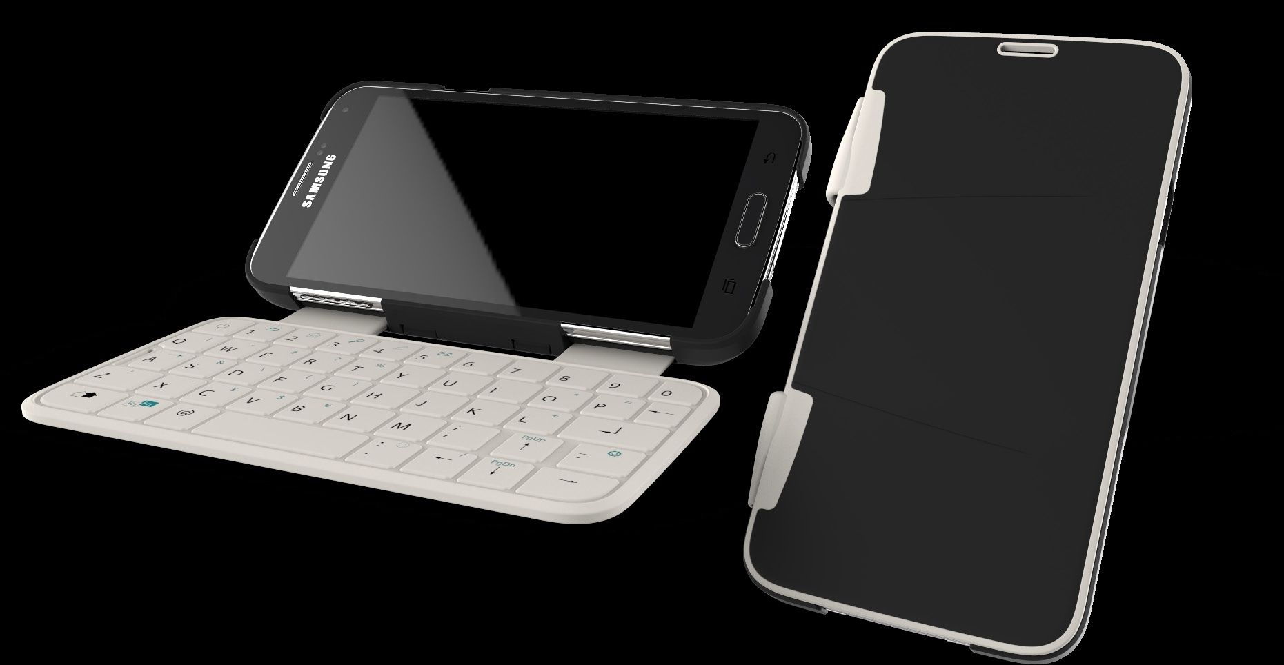 Dette tastaturet til Samsung-telefoner bruker NFC (Near Field Communication) for trådløs overføring, og trenger ikke batterier. Viktige faktorer her var at tastaturet skulle fungere under røffe forhold, og være levedyktig i et prispresset marked. Eker Design
