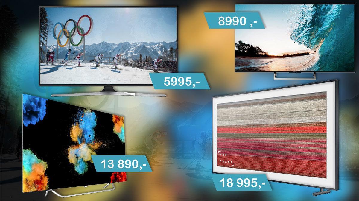 Ute etter ny TV? Her er våre anbefalinger, helt fra 6000 kroner og opp til 50 000 kroner