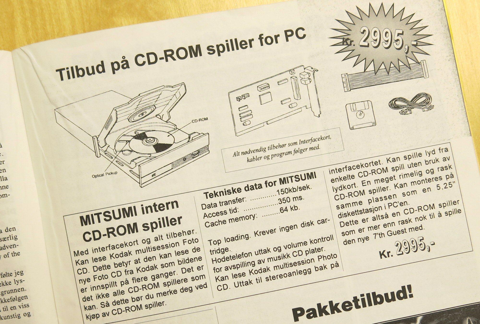 I 1993 kunne databrukere la seg lokke av 1x-lesere til «kun» 2995 kroner.Foto: Faksimile: Den Norske Hjemmedataklubben