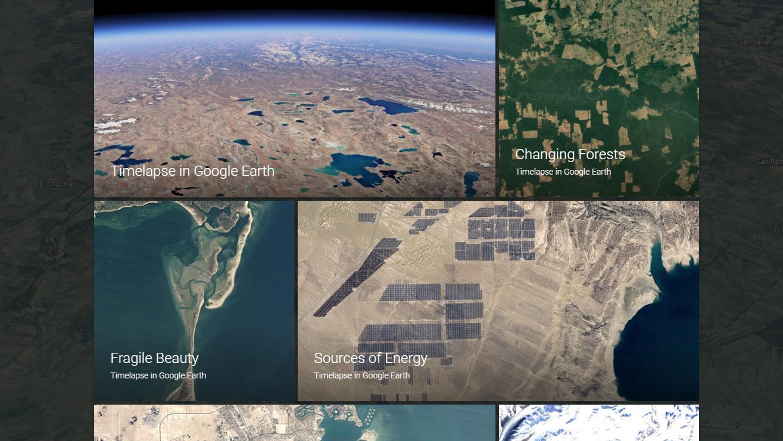 Nå viser Google Earth deg hvordan vi har forandret kloden