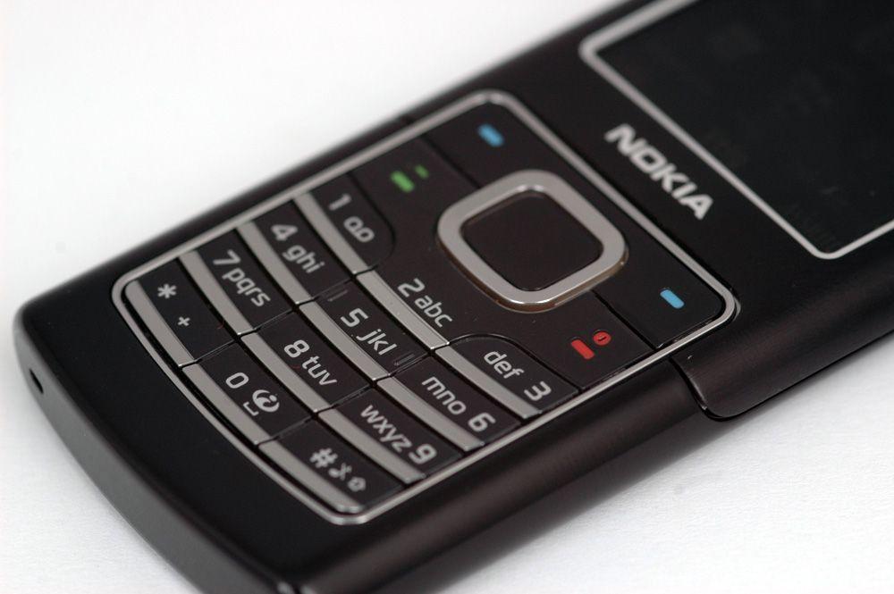 Tastene er for nedgravd i telefonen.