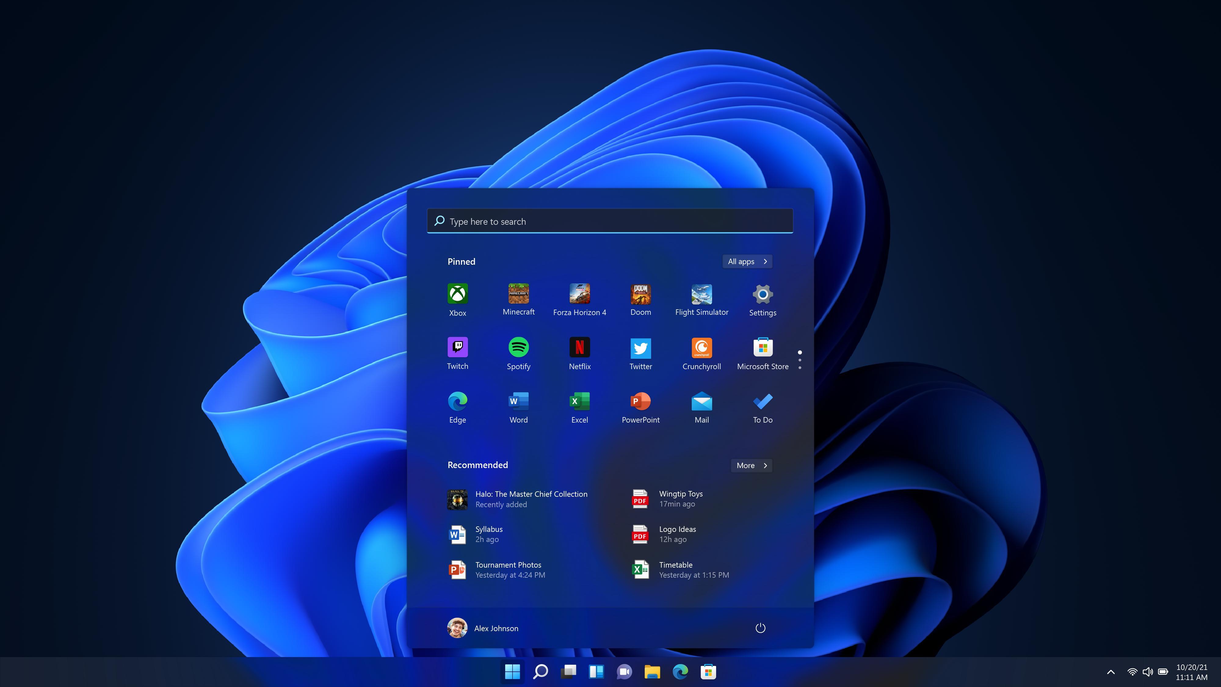 Mørk og mystisk: Si hei til Windows 11.