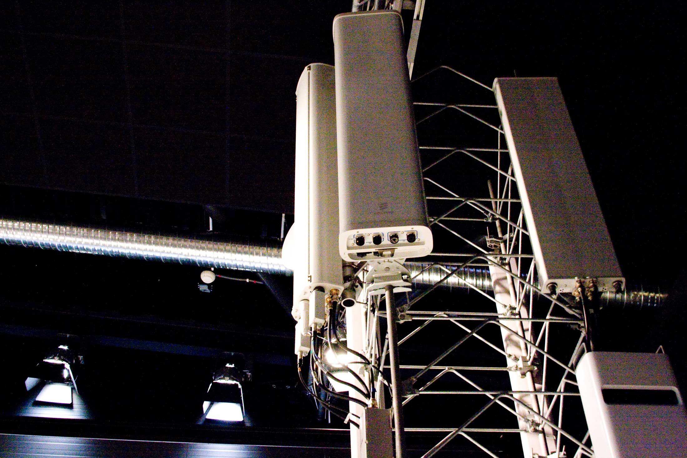 Slik kan en typisk mobilbasestasjon se ut. Foto: Håvard Fossen, Insidetelecom.no