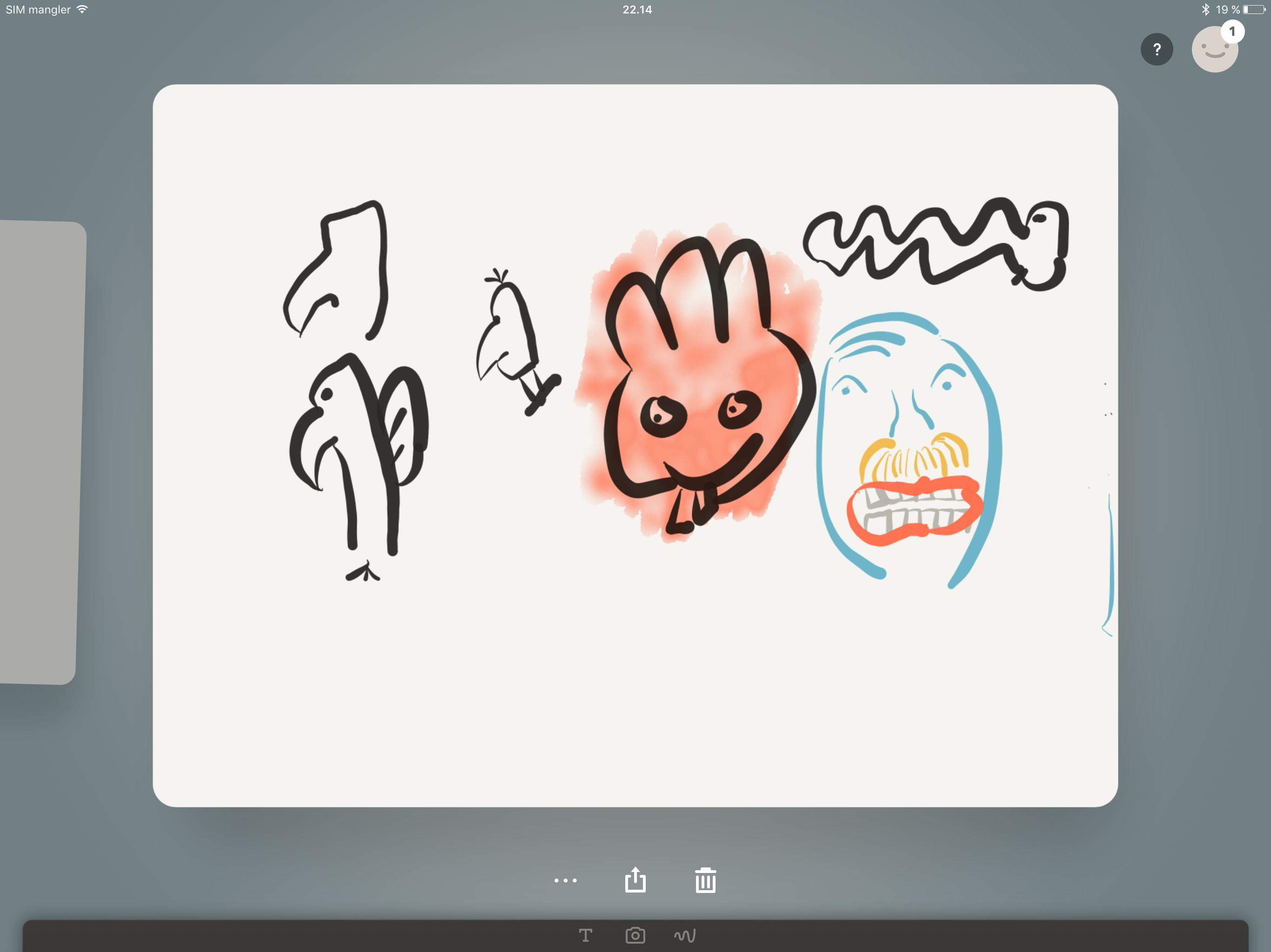 Jeg føler meg så talentfull! Vel, kanskje ikke. Men det er morsomt å tegne på iPad Pro. Foto: Finn Jarle Kvalheim, Tek.no