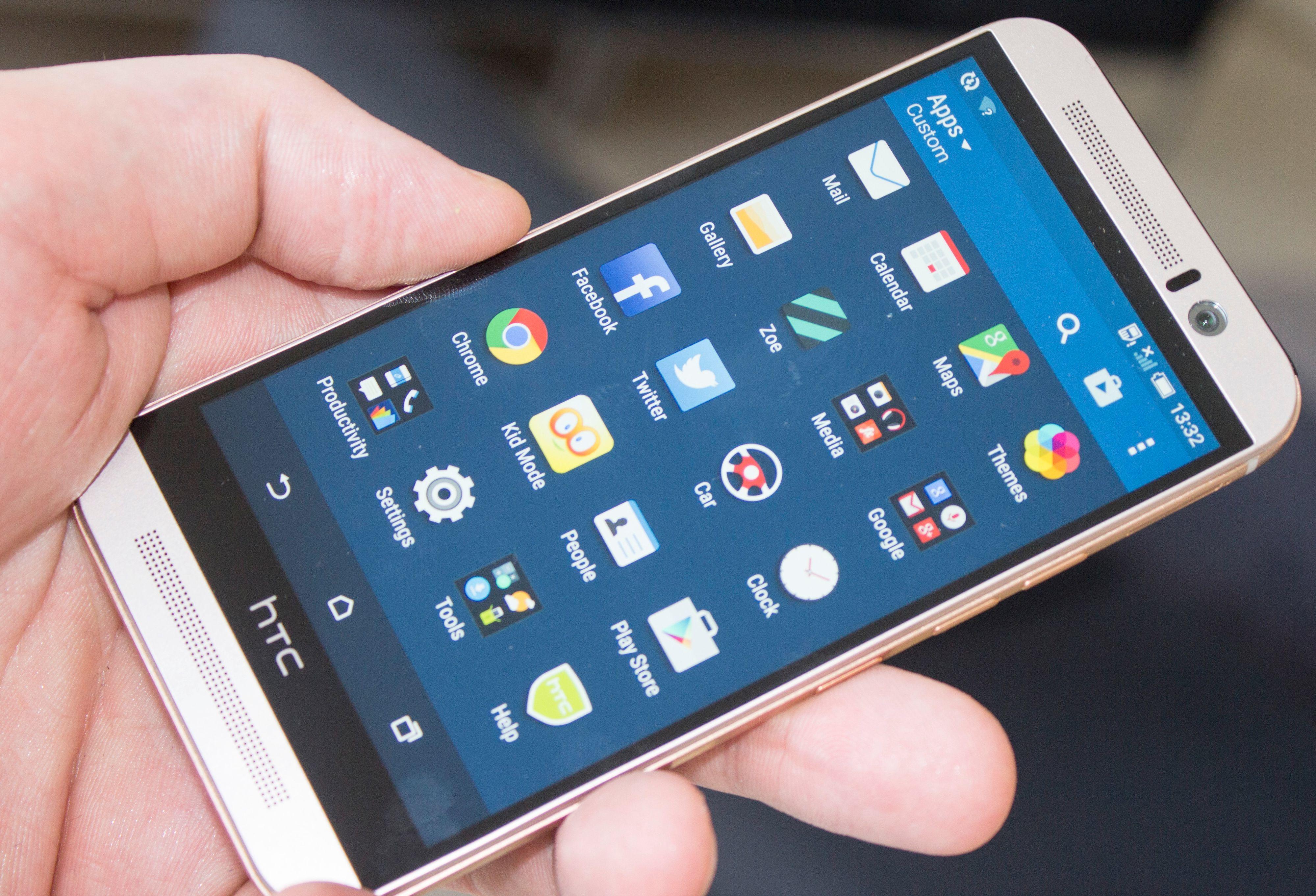 HTC har ikke gjort store endringer i appmenyen.