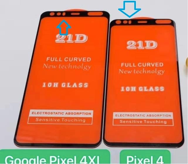 Dette lekkede bildet av Pixel 4 og Pixel 4 Plus viser angivelig hvor ToF-kameraene vil plasseres.