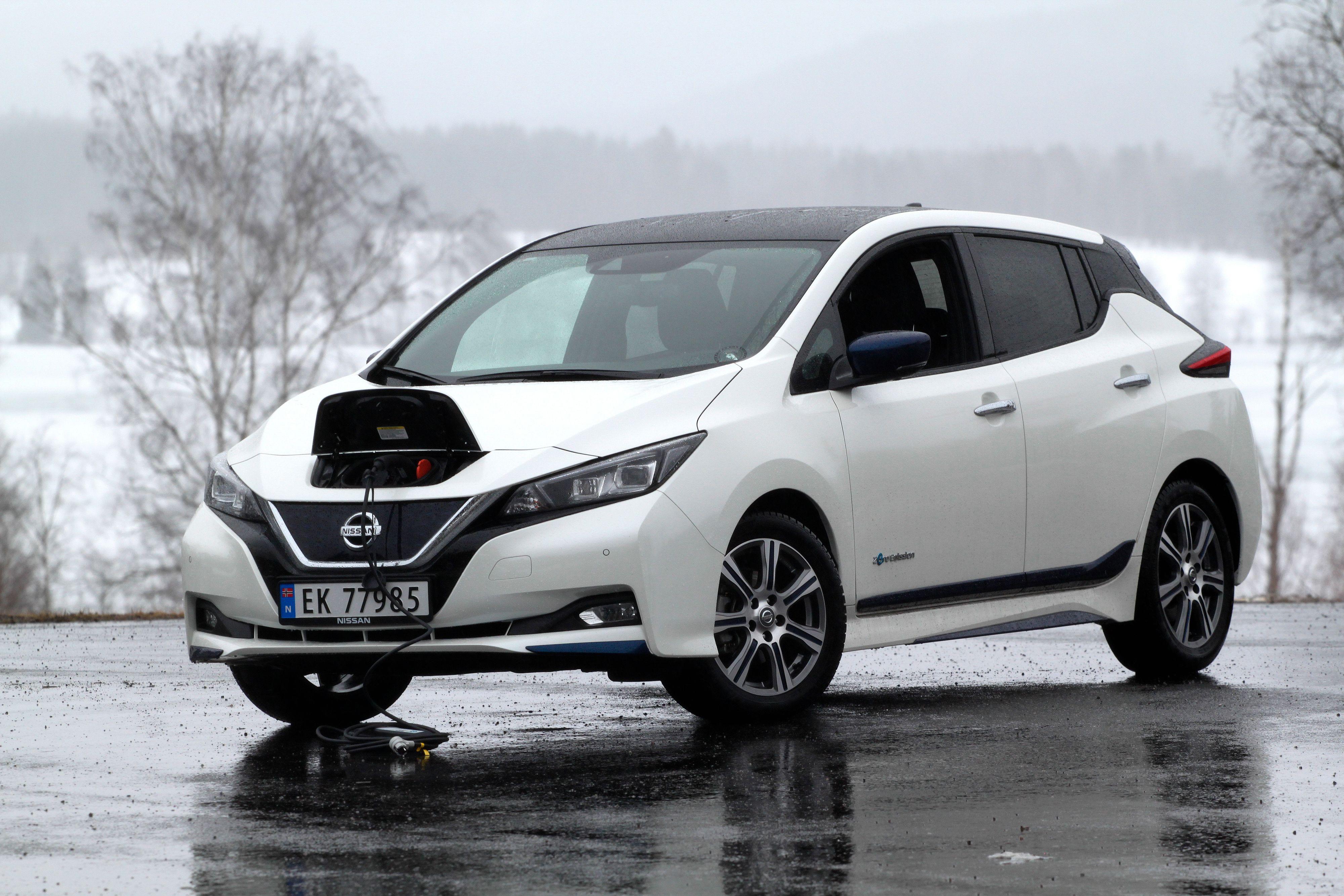 Nissan Leaf får en versjon med større batteri i modellåret 2019. Her er 40 kWh-utgaven.