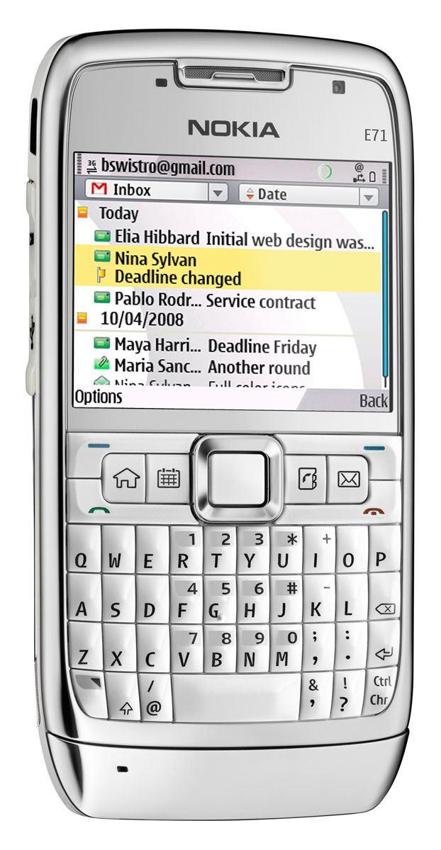 Nokia Messaging på en E71. (Foto: Nokia)