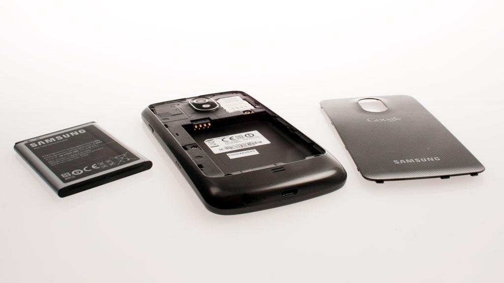 Det er ikke noen plass for minnekort i Samsung Galaxy Nexus.