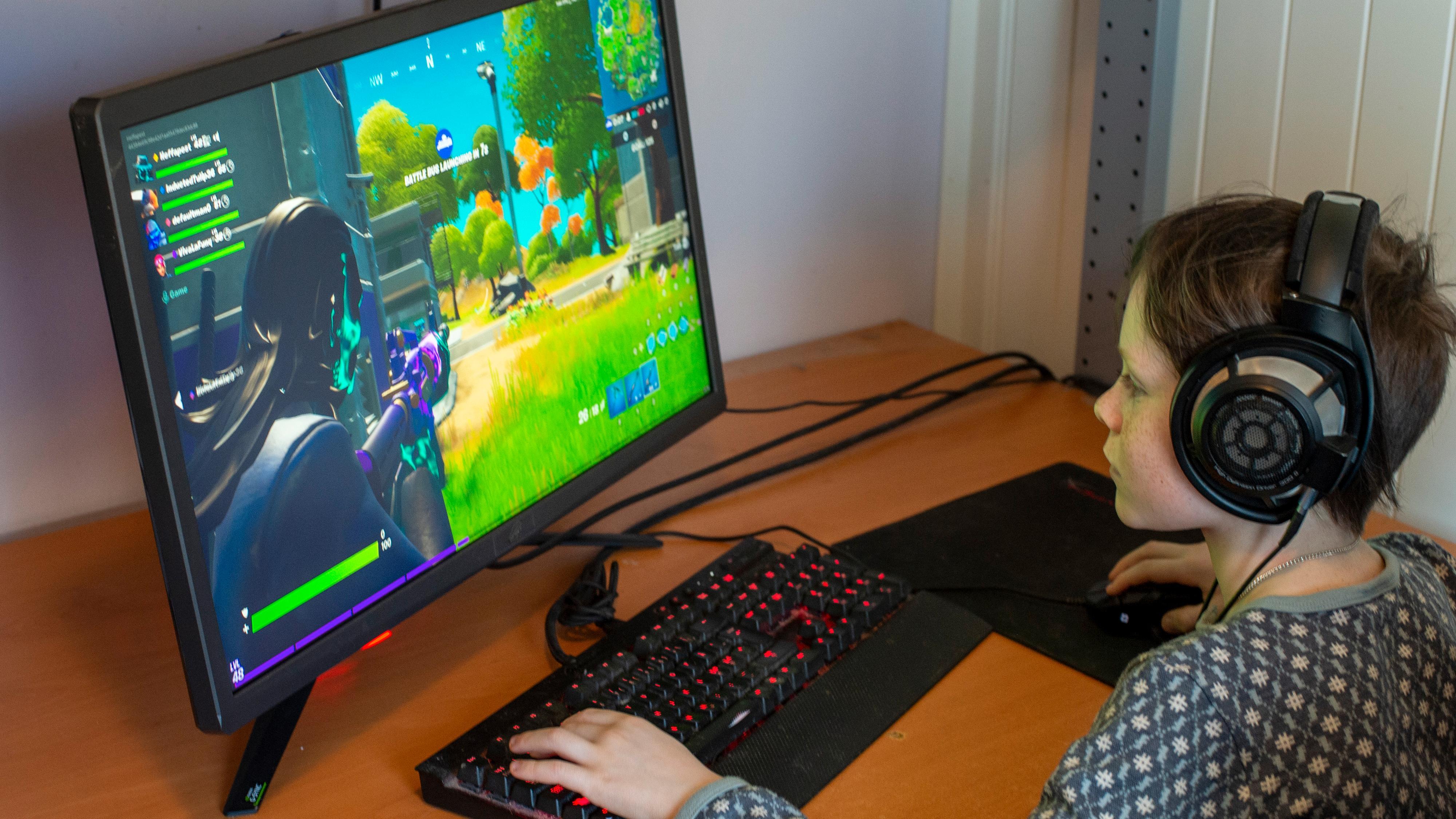 Rett og slett en grom spill-skjerm