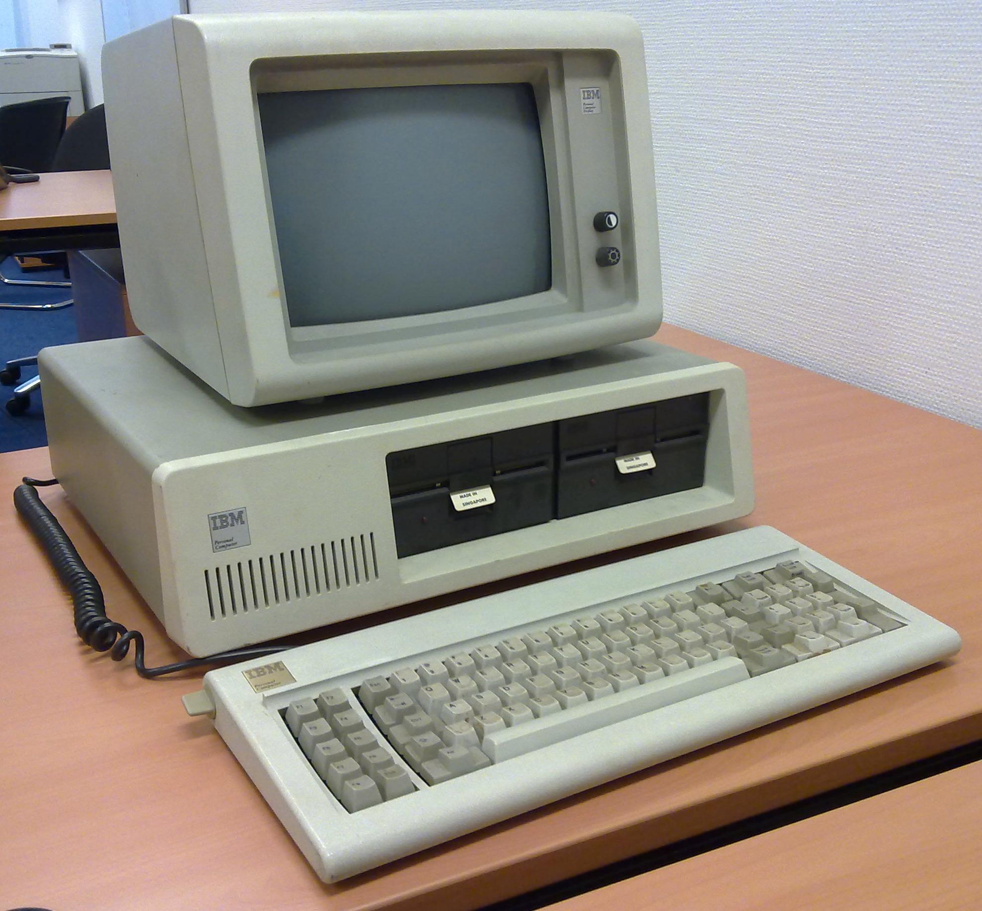 IBMs første PC.Foto: Wikipedia Commons