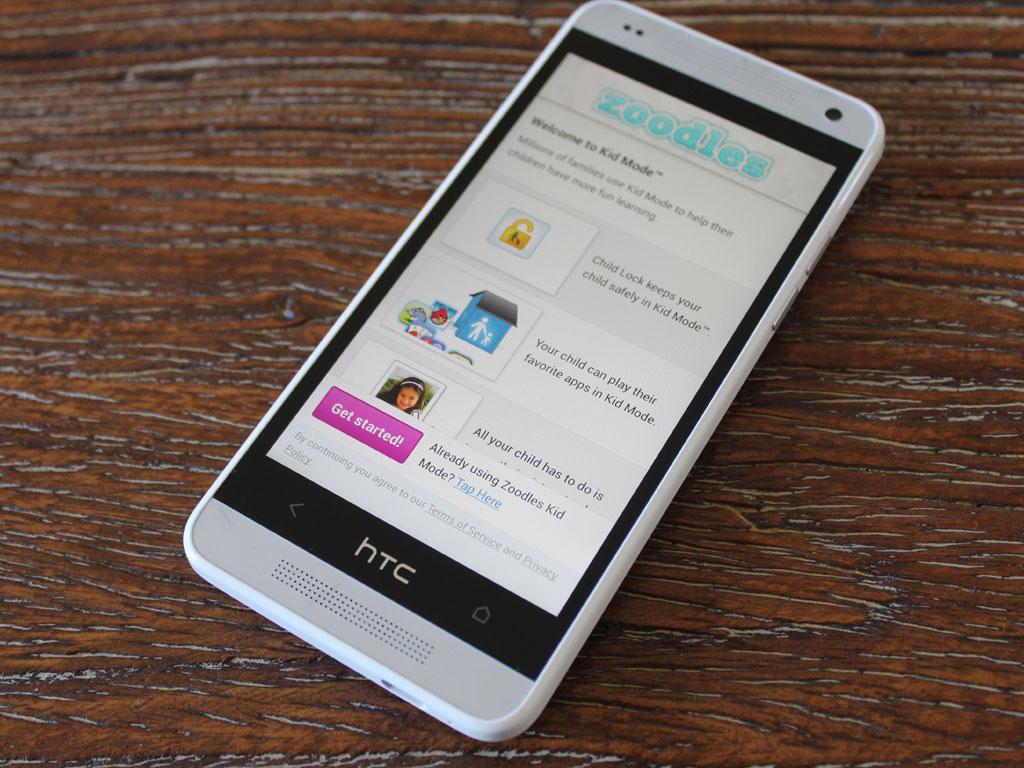 HTC har lagt til en funksjon som gjør at du kan la barna bruke telefonen på en tryggere måte.Foto: Espen Irwing Swang, Amobil.no