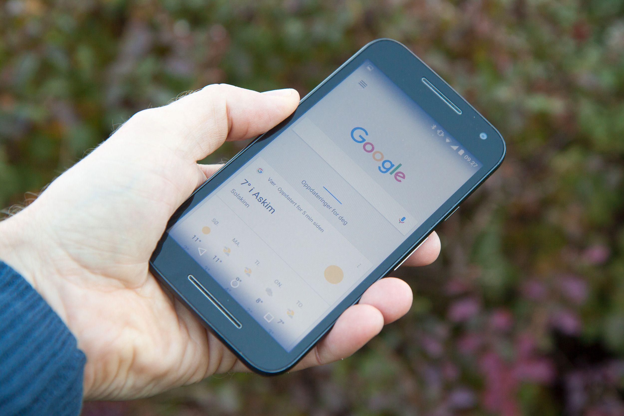 Motorola Moto G. Foto: Kurt Lekanger, Tek.no