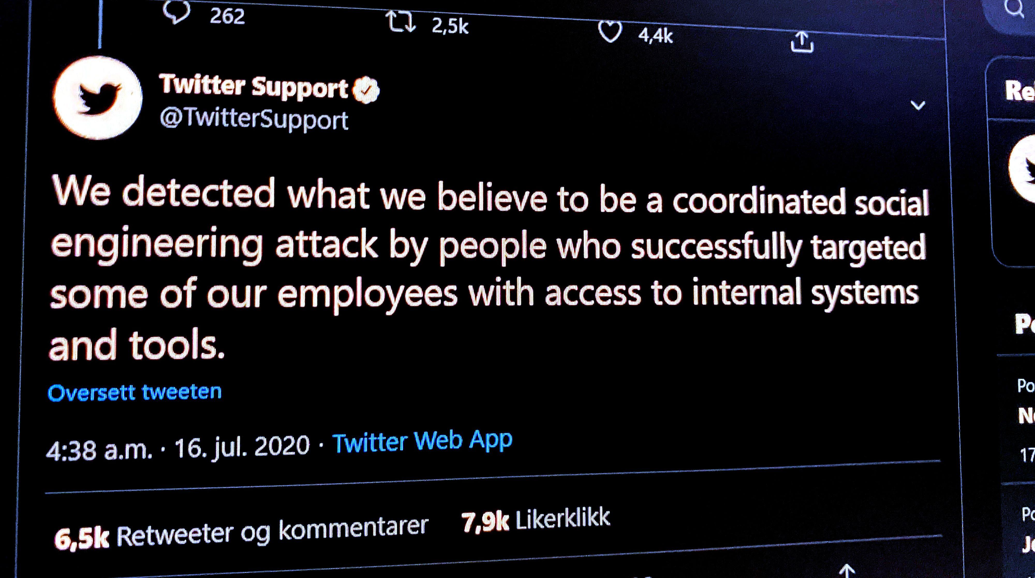 Twitter melder fra sin offisielle supportkonto at de fleste nå skal kunne bruke tjenesten igjen, mens de fortsetter med å finne ut hva som gikk galt da Bill Gates, Elon Musk og Joe Biden, for å nevne noen, tilsynelatende reklamerte for en Bitcoin-svindel.