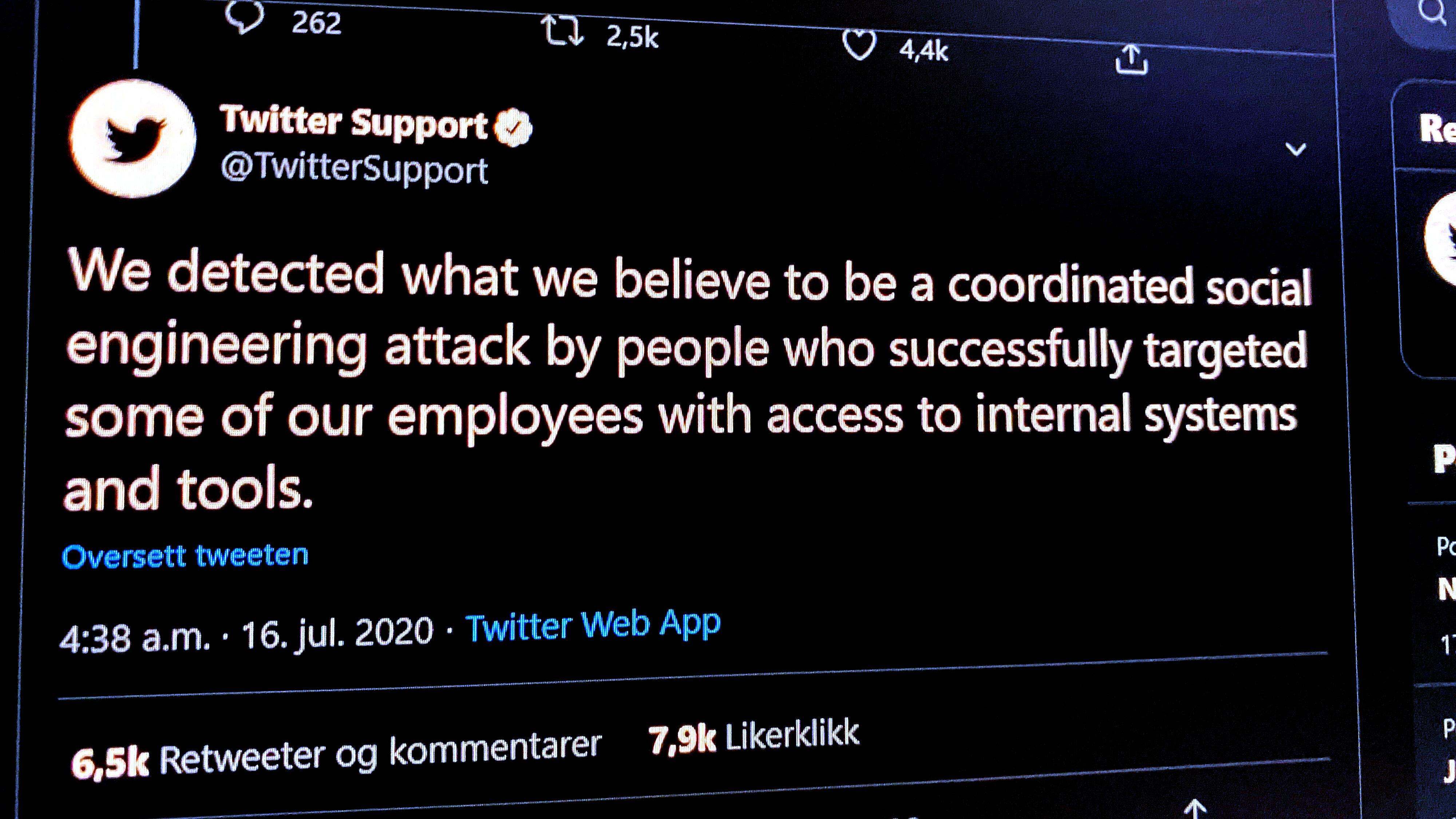 Twitter: - Hackerne gikk etter ansatte med tilgang