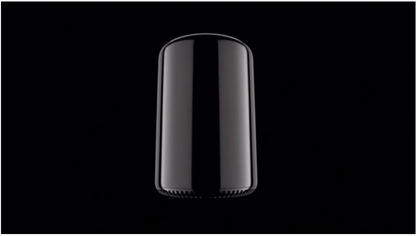 Nye Mac Pro —Skinnende, rund og lekker.Foto: Apple