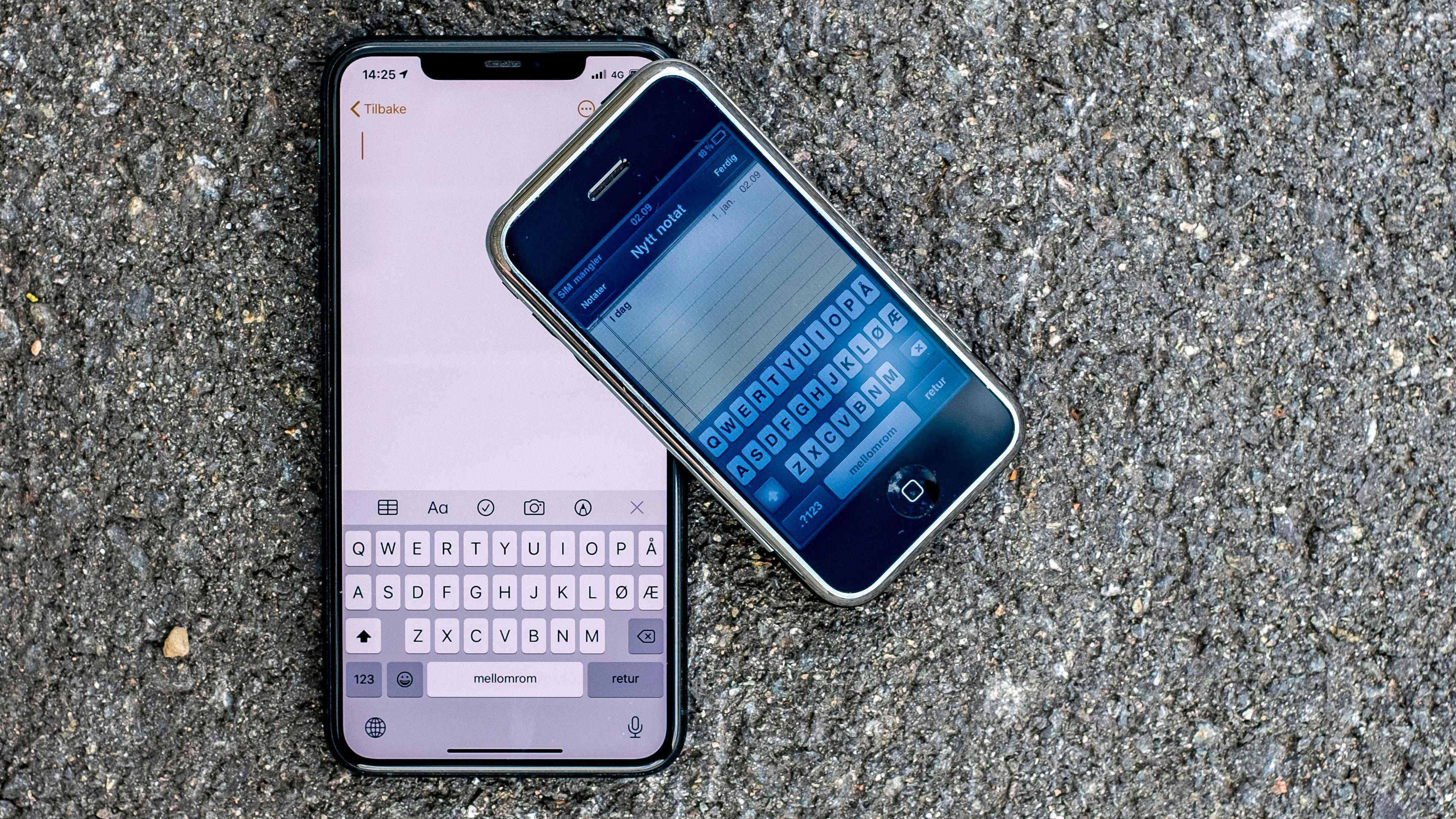 Det er ikke mye som skiller iPhone-tastaturet fra 2007 og 2020.