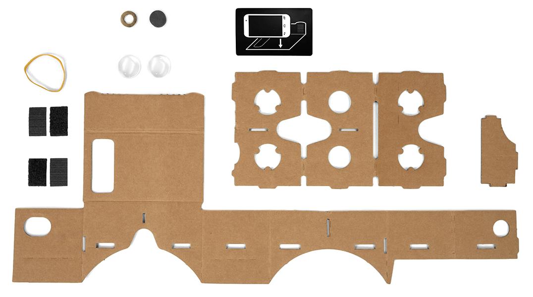 Slik ser Cardboard før den er satt sammen.