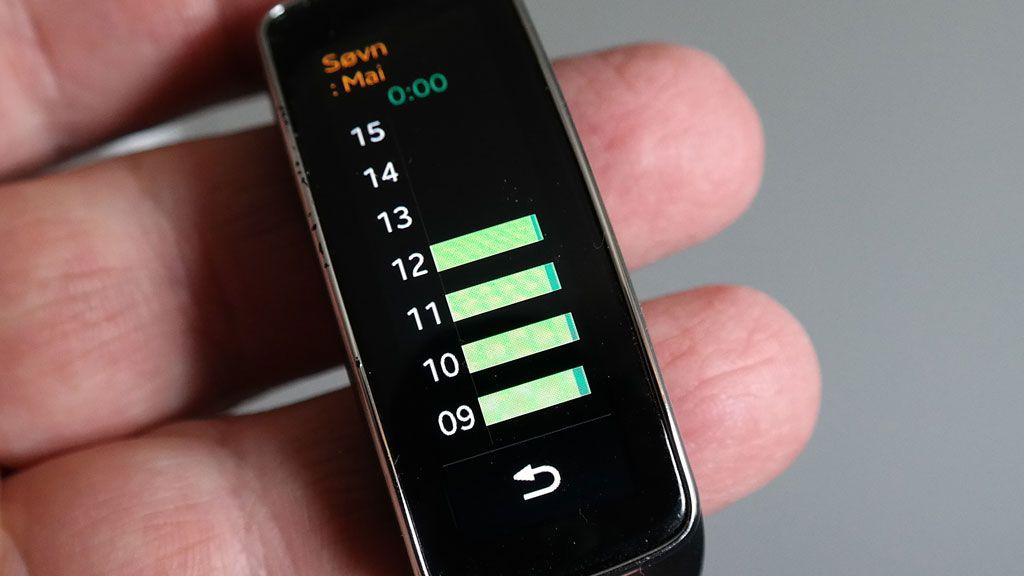Klokken registrerer hvor urolig du ligger om natten. Men du må ha en app på mobilen for å få fullt utbytte av registreringen.Foto: Espen Irwing Swang, Amobil.no