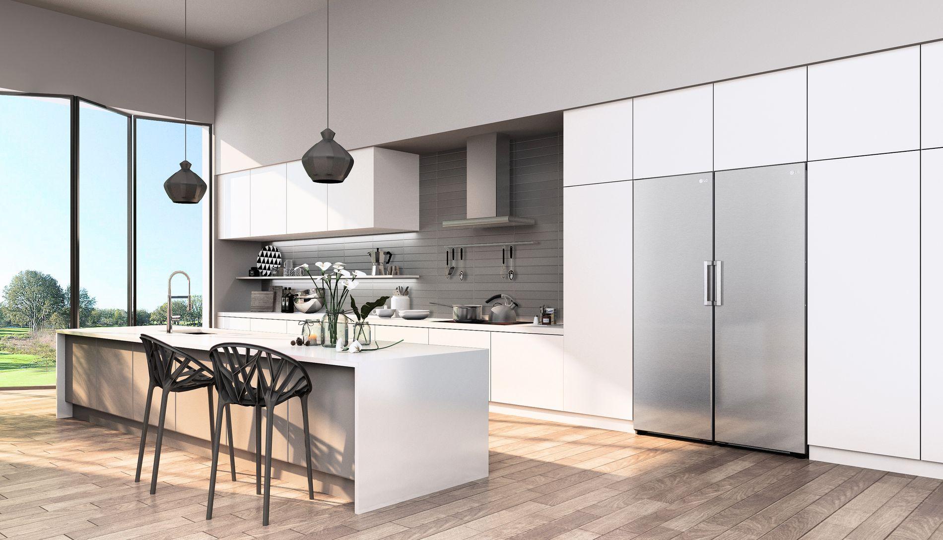 Designmessig er LG sine kjøleskap en drøm, som glir inn som en smakfull del av innredningen.