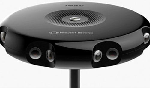 Samsung utvikler en enhet med 16 HD-kameraer som sammen skal skape et 360-grader opptak. Foto: Samsung/Oculus