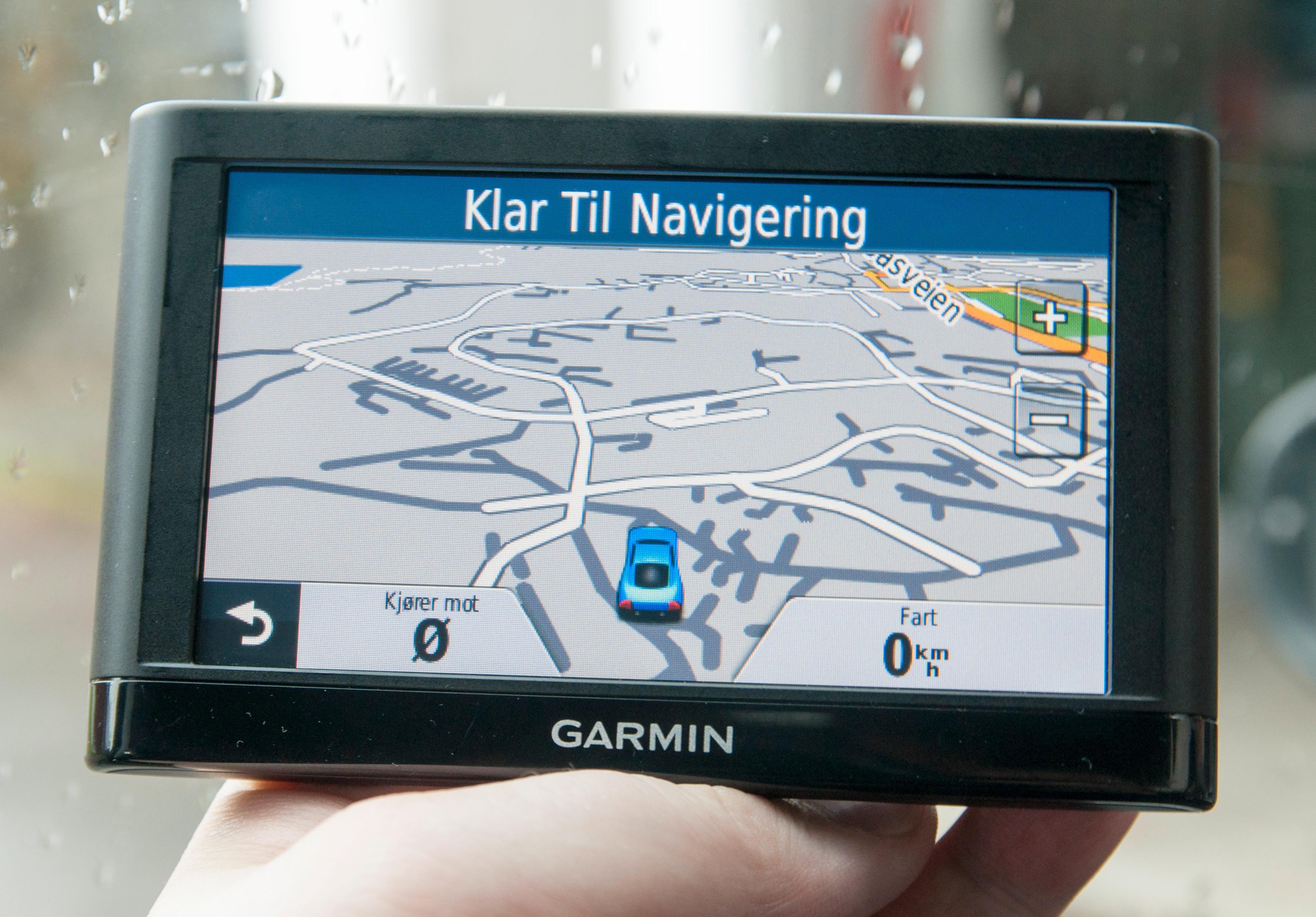 Kartvisningen fra Nüvi 54 LM. Normalt viser den langt flere veinavn i periferien rundt, men akkurat i dette området gjorde den det ikke.Foto: Finn Jarle Kvalheim, Amobil.no