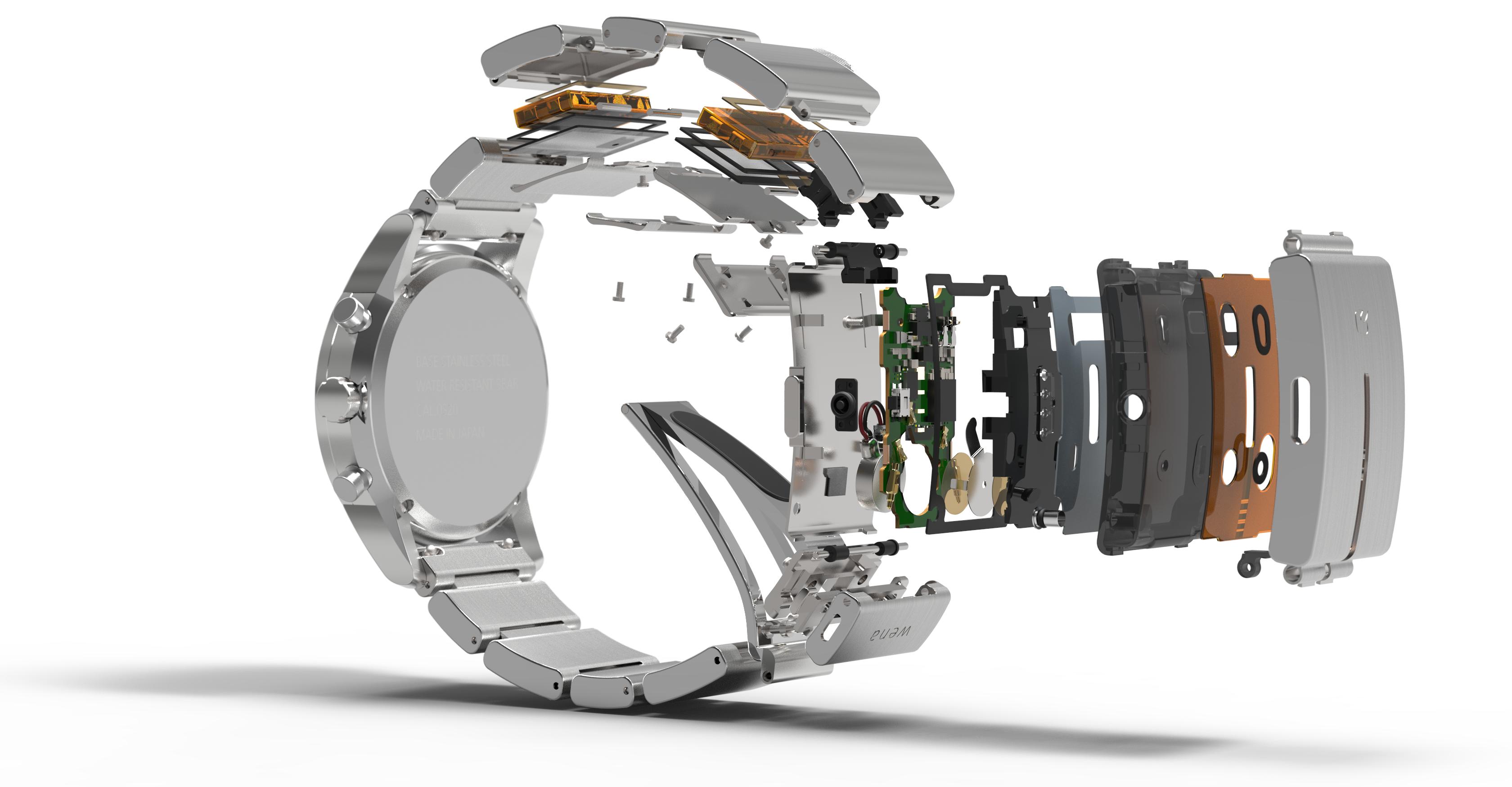 Smartlokke-elektronikken er bygget inn i en separat del av klokken, nemlig reimen. Foto: Sony