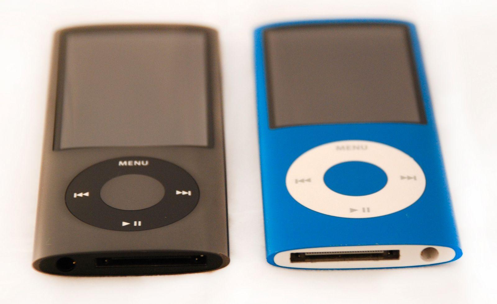 Større skjerm på Nano 5G (venstre)