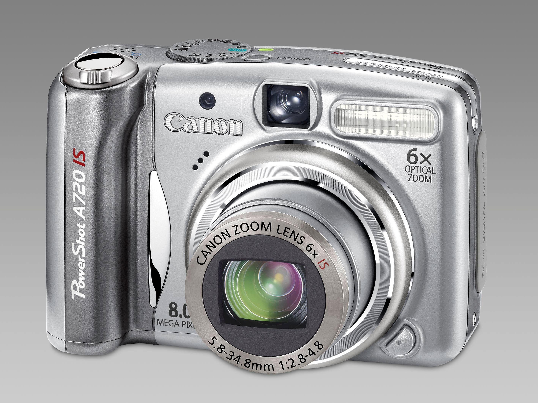 Canon Powershot A720 IS - ett av utallige Canon konsumetprodukter.