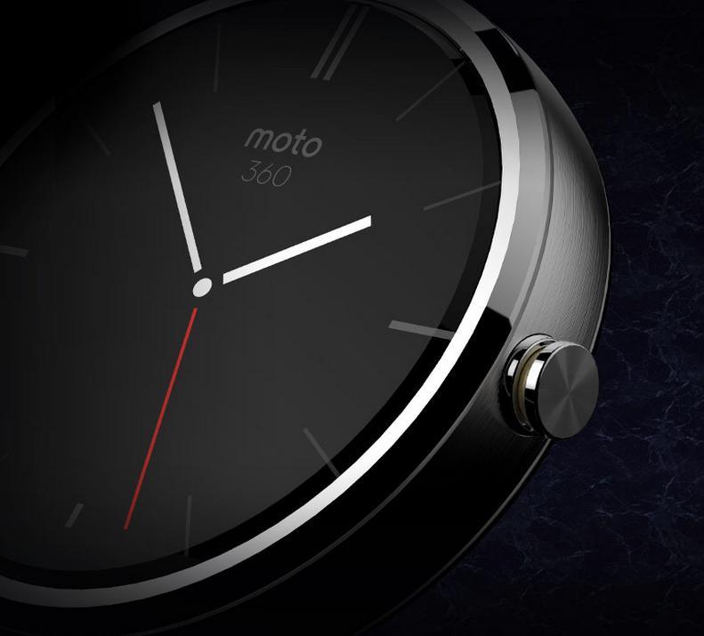 Nærbilde av Moto 360. Klokken skal få et svært ekslusivt uttrykk.Foto: Motorola/Google