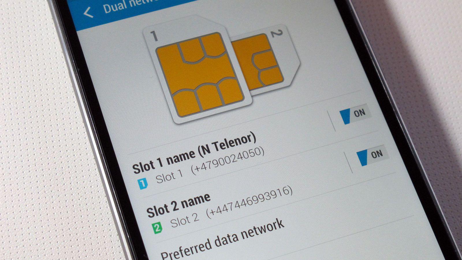 Du må bestemme deg for hvilket av SIM-kortene som skal brukes til dataoverføring.Foto: Espen Irwing Swang, Tek.no