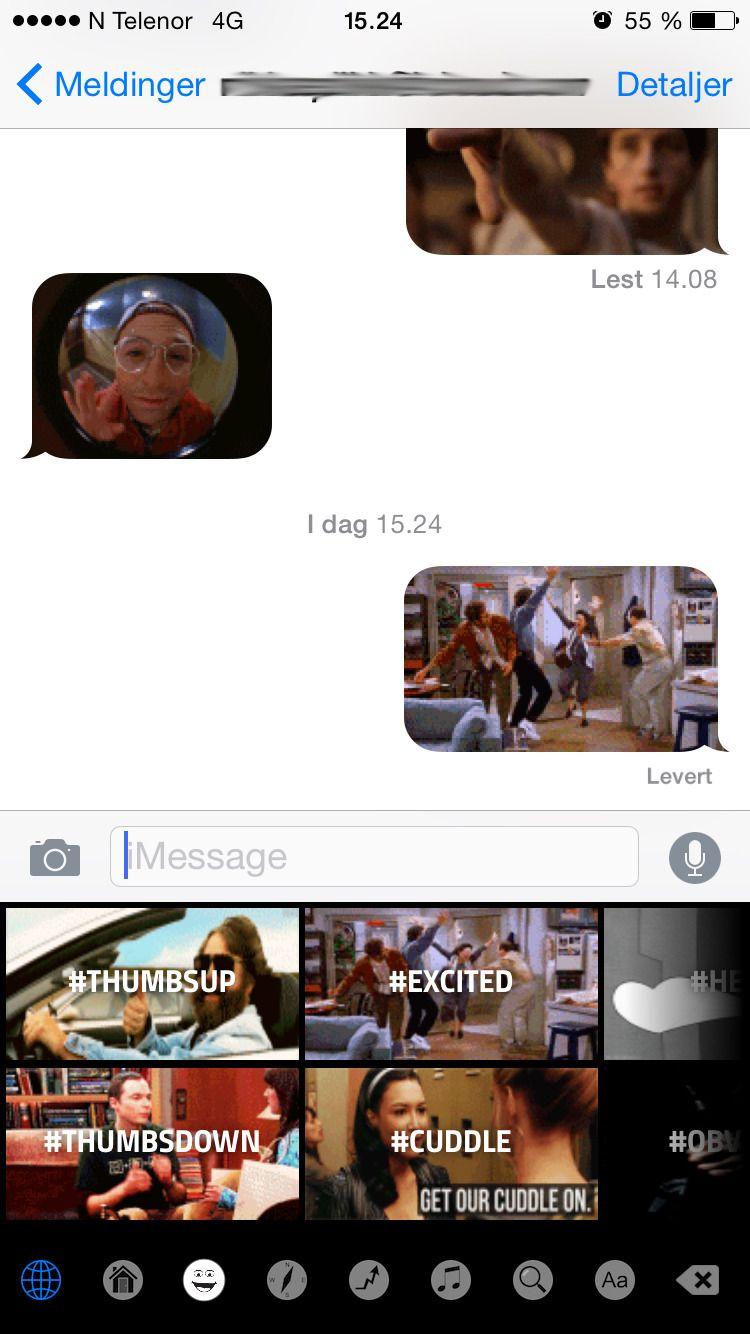 GIF Keyboard er morsomt. I alle fall i små doser.Foto: skjermbilde