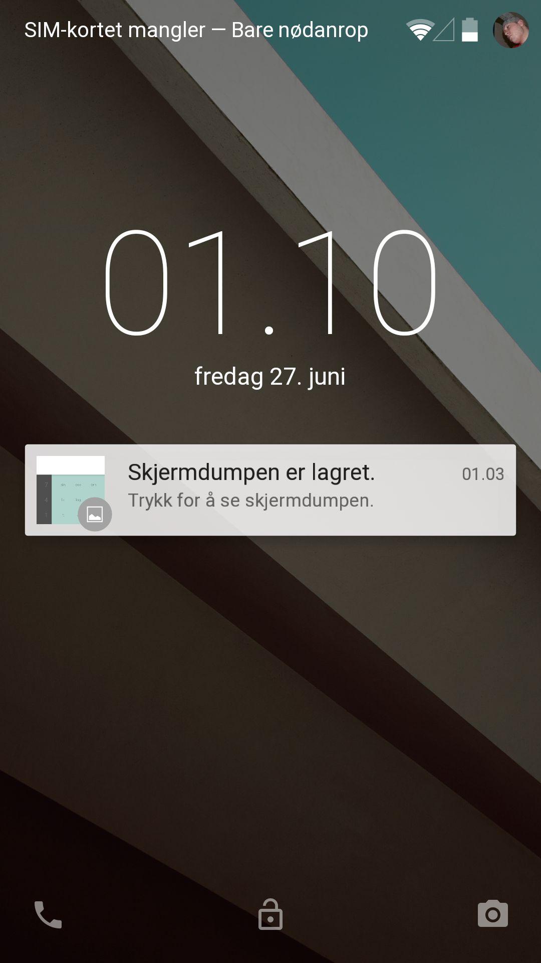 Nå gir Android varslinger på låseskjermen. Disse kan dobbeltklikkes for å åpne appen som hører til.
