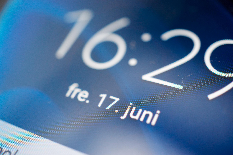 Nærbilde av skjermen.