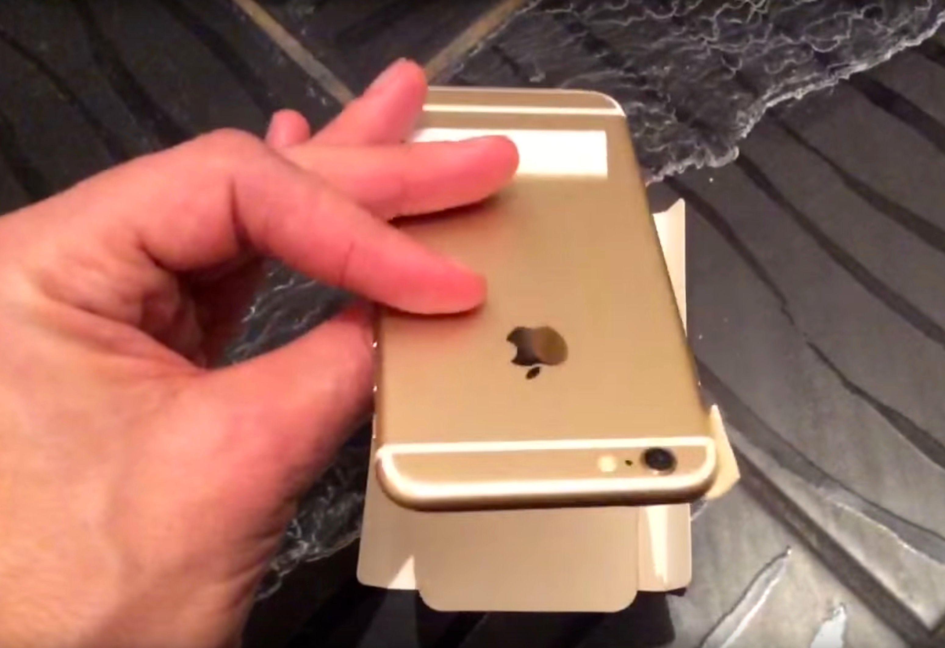 Slik ser iPhone 6C ut på baksiden i den ferske videoen.