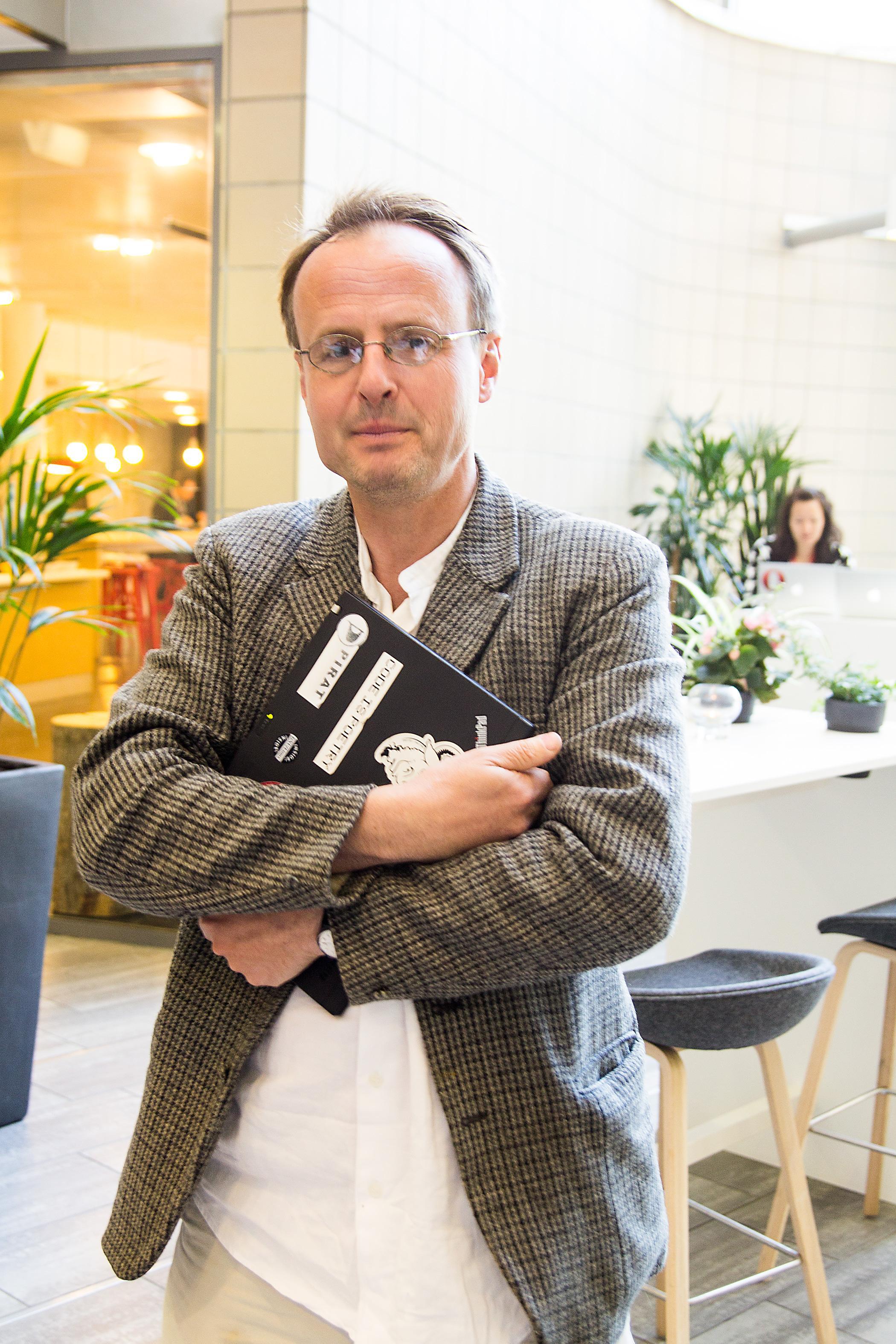 Håkon Wium Lie i Piratpartiet synes det er skremmende at den nye åndsverksloven kunne vedtas med så lite debatt.Foto: Varg Aamo, Hardware.no