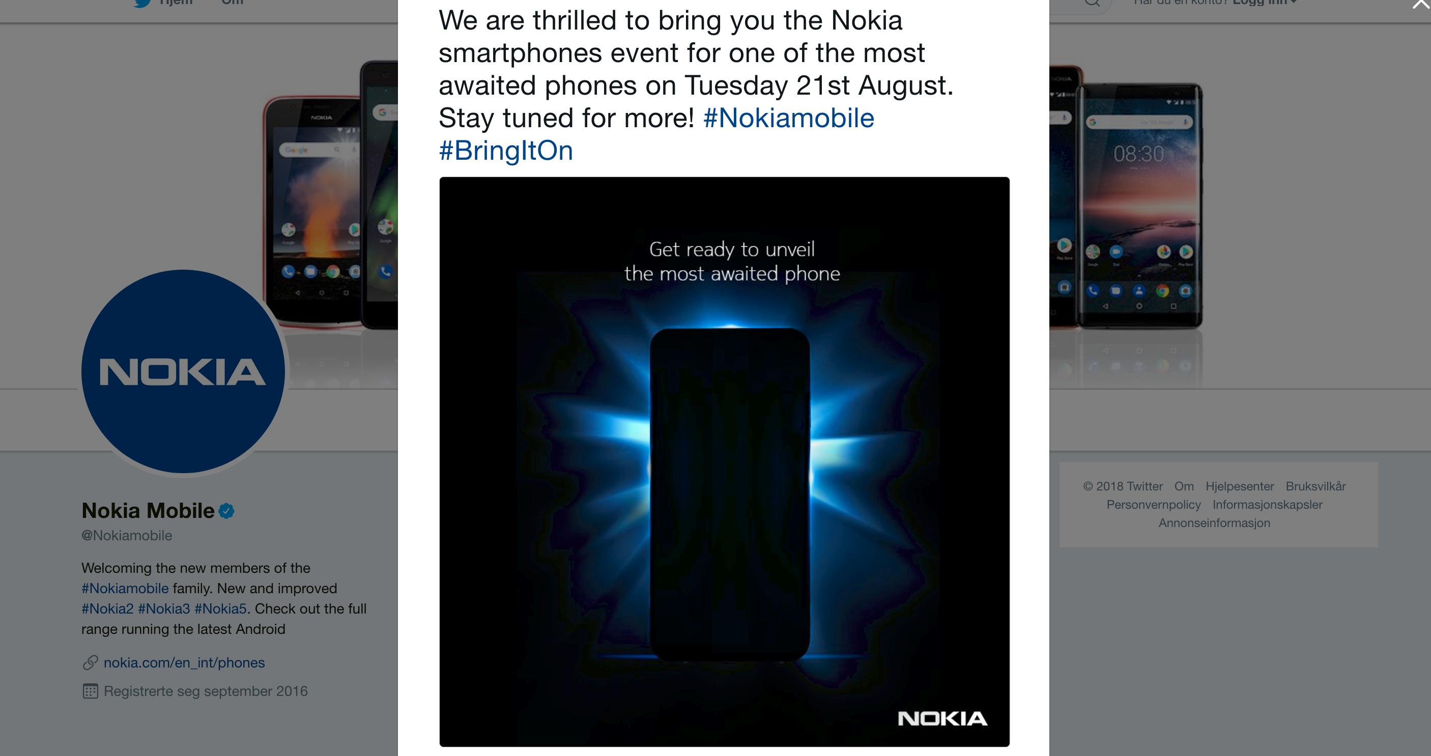 Nokia hinter om ny mobil i hemmelighetsfull Twitter-melding