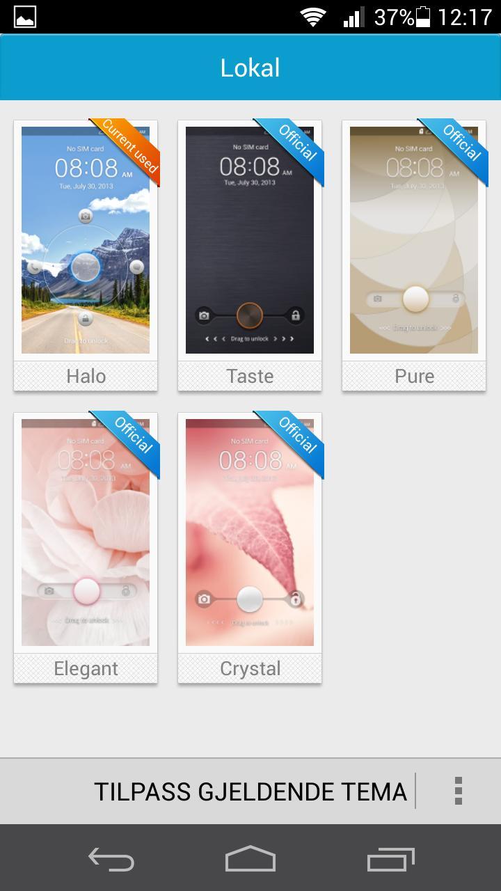 Som vanlig inkluderer Huawei ulike temaer for menyene.Foto: Finn Jarle Kvalheim, Amobil.no