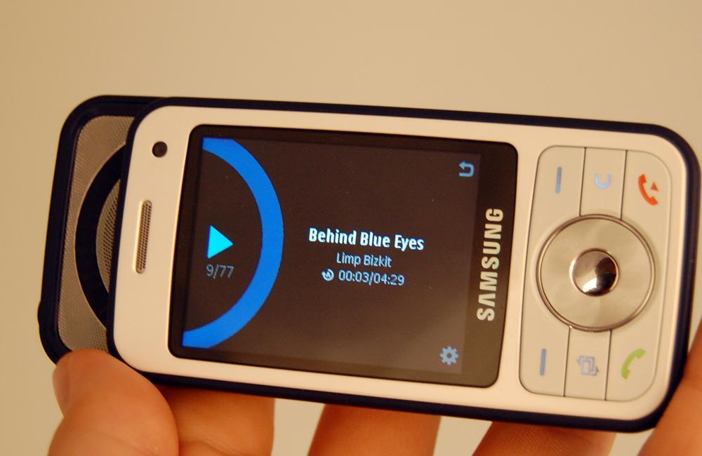 Samsung I450 har også en lettbrukt musikkspiller.