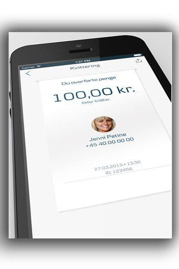 Med MobilePay kan du også overføre penger til venner, som med DNBs mobiltjeneste Vipps. Foto: Danske Bank / App Store