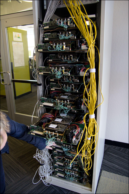 En av Googles første servere