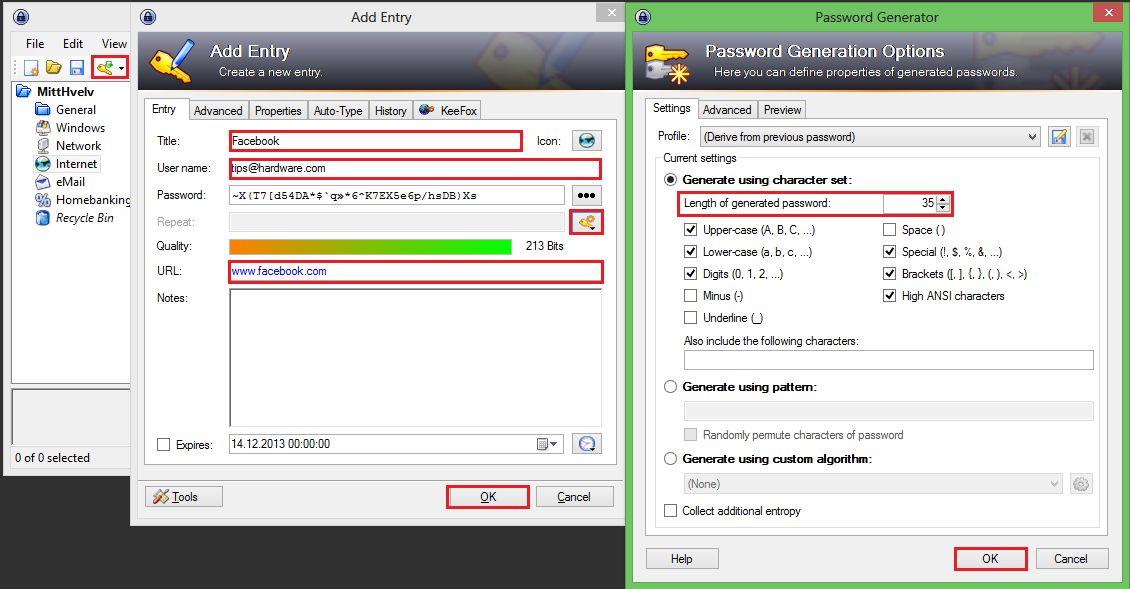 Her legger du inn en ny oppføring i databasen din og genererer et sikkert passord.