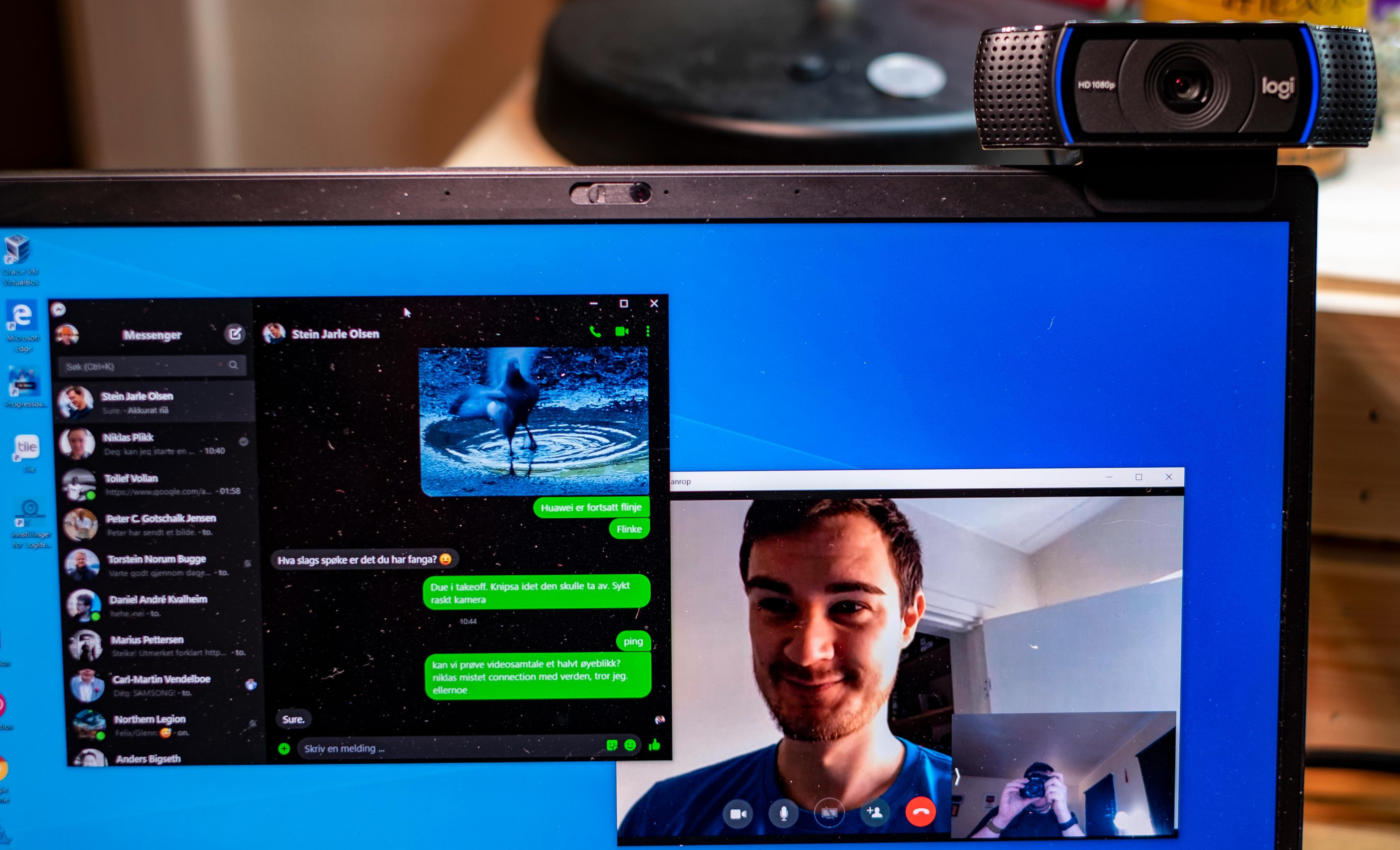 Smiiil! Løsningen fungerer enkelt, og finner automatisk frem til kameraene som er i bruk på PC-en.